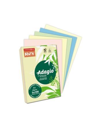 Värvipaber REY ADAGIO A4, 80gr/m2 500 lehte, erksinine ( nr.48 )