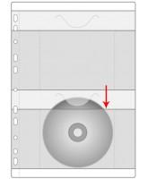 Kiletasku A4 köidetav 2-le CD-le Prolexplast