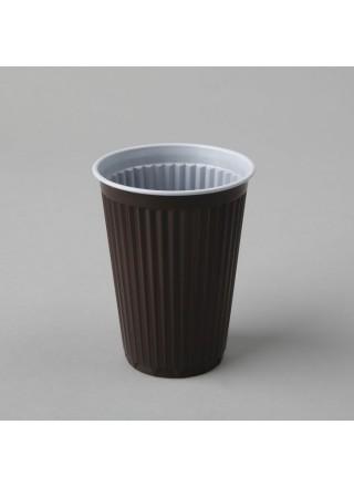 Kohviautomaadi tops 180ml, pruun/valge, PS, kastis 30pk x 100tk
