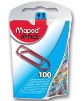 Kirjaklambrid Maped 25mm 100tk värvilised