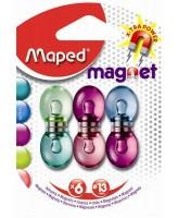 Magnet Maped värvilised 6tk