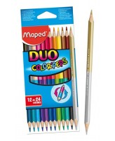 Värvipliiats kahe otsaga ColorPeps Duo 12tk=24tk