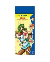 Värvipliiatsid Lyra Osiris 12-värvi kolmetahulised