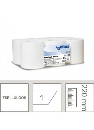 Rullrätik MAXI, tselluloos, 1-kihiline, 320m/6rll