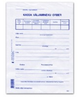 Blankett Kassa väljamineku order A5/100L, KPF