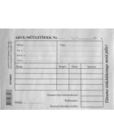 Blankett Arve-müügitsekk A6/100L, KPF
