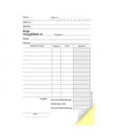 Arve-müügitšekk A6 pikuti, isekopeeruv, 2x50 lehte