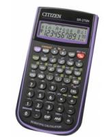 Koolikalkulaator Citizen SR-270NPU must/lilla