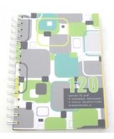 Kaustik A5 120 lehte, 3 värviline register, spiraalköide
