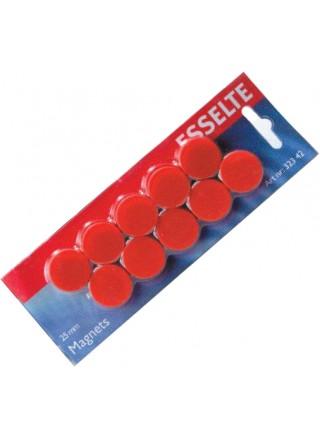 Tahvlimagnet Esselte 25mm, punane 10tk