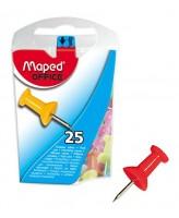 Tahvlinõelad Maped 10mm 25tk värvilised