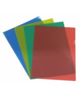 Kilekaaned College A4/L-tasku, matt, läbipaistev punane