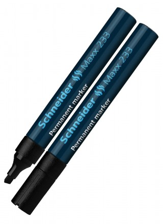 Veekindel marker Schneider 233 1-5mm lõigatud otsaga, must
