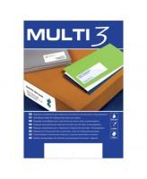 Kleebisetiketid Multi 3, A4, 105x48mm, 12/100 lehte