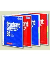 Kaustik A4 80L 5x5 ruut spiraalköide 5 värviga register